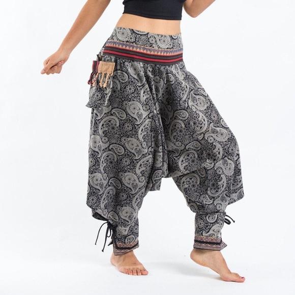 ca577e539510a harempants.com Pants - Paisley Thai Hill Tribe Fabric Women s Harem Pants